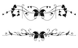 Vignettes  with butterfly Stock Images