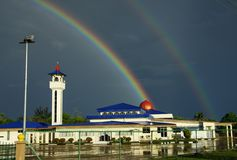 vignetting радуг предпосылки Стоковое Фото