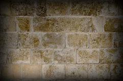 Vignetting image of olg stone wall Royalty Free Stock Images