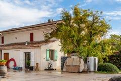 Vignoble au pied de Mont Ventoux en Provence, France Photographie stock