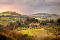 Vignobles de chianti en Toscane, Italie photos libres de droits