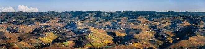 Vignobles de Langhe Piémont, Italie images libres de droits