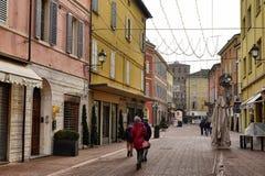 Vignola, Emilia Romagna, Italy. View of via Giuseppe Garibaldi stock image