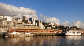 Vigo city port Stock Image