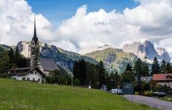 Vigo di Fassa Val di Fassa, Trento, Trentino Alto Adige, Italien royaltyfri fotografi