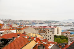 Vigo, Galicia on rainy day Royalty Free Stock Photo
