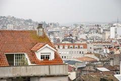Vigo, Galicia on rainy day Royalty Free Stock Image