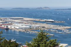 Vigo marina and port Stock Image