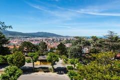 Vigo pejzaż miejski w Hiszpania Zdjęcie Stock