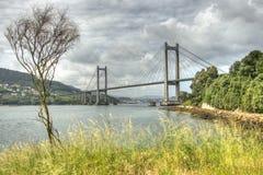 Vigo´s Brücke Stockfotos