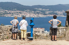 Vigo tourists Royalty Free Stock Photos