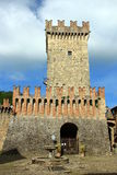 Vigoleno, ένα μεσαιωνικό χωριό στη βόρεια Ιταλία Στοκ Εικόνες