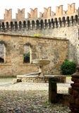 Vigoleno, ένα μεσαιωνικό χωριό στη βόρεια Ιταλία Στοκ φωτογραφία με δικαίωμα ελεύθερης χρήσης