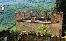 Vigoleno, ένα μεσαιωνικό χωριό στη βόρεια Ιταλία Στοκ Εικόνα