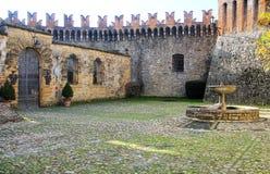 Vigoleno Castle στη βόρεια Ιταλία στοκ φωτογραφίες με δικαίωμα ελεύθερης χρήσης