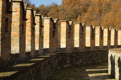 Vigoleno Castle στη βόρεια Ιταλία στοκ εικόνες με δικαίωμα ελεύθερης χρήσης