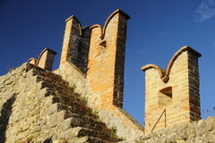 Vigoleno Castle in Northern Italy Royalty Free Stock Photography