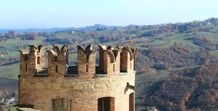 Vigoleno Castle in Northern Italy Royalty Free Stock Images