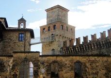 Vigoleno Castle in Northern Italy Royalty Free Stock Photos