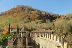 Vigoleno Castle in Northern Italy Stock Photos