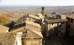 Vigoleno Castle in Northern Italy. Vigoleno castle consitutes a fortified complex of great interest which has maintained almost intact its original character Royalty Free Stock Photography