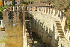 Vigoleno Castle in Northern Italy Stock Image