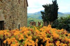 Vigoleno, een middeleeuws dorp in noordelijk Italië Royalty-vrije Stock Afbeeldingen