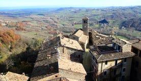 Vigoleno kasztel w Północnym Włochy zdjęcie royalty free