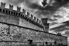 Vigoleno walls Royalty Free Stock Photography