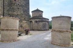 Vigolo Marchese Piacenza, Ιταλία: μεσαιωνική εκκλησία στοκ εικόνα με δικαίωμα ελεύθερης χρήσης