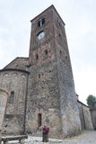 Vigolo Marchese Piacenza, Italy: medieval church. Vigolo Marchese Piacenza, Emilia Romagna, Italy: the medieval church in Romanesque style Royalty Free Stock Photo