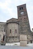 Vigolo Marchese Piacenza, Italien: medeltida kyrka Royaltyfria Foton
