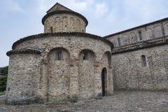 Vigolo Marchese Piacenza, Italien: medeltida kyrka Royaltyfri Fotografi