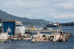 Vigor Dry Dock. Ketchikan, AK, USA - May 24, 2016:  One of the dry docks at the Ketchikan Shipyard operated by Vigor Stock Photo