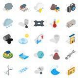 Vigor icons set, isometric style. Vigor icons set. Isometric set of 25 vigor vector icons for web isolated on white background Royalty Free Stock Images