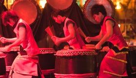 Vigorous Drumming Royalty Free Stock Photos