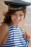 Vigorous girl on open air Stock Photography