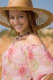 Vigorous girl on open air Stock Images