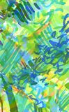 Bright multicolored background of strokes, scribbles, marker. Vigorous ink strokes with a marker, very eco-friendly abstract background in a yellow-green color vector illustration