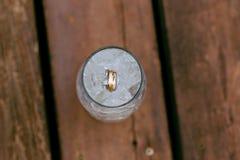 Vigselringar i isvatten Royaltyfria Foton