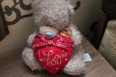 Vigselringar vigselringar med nallen, vigselringar med förälskelsehjärta, vigselringar med leksaken royaltyfri foto