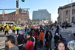 vigésimo Spectacular anual del desfile de la acción de gracias de UBS, en Stamford, Connecticut Imagen de archivo