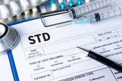 VIH de las enfermedades de transmisión sexual, HBV, HCV, sífilis STD, ST fotos de archivo