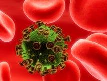 VIH-virus Foto de archivo libre de regalías
