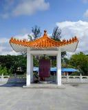 Vihara Avalokitesvara, Buddhist temple. One of the smaller buildings on the Avalokitesvara temple lot in Pematang Siantar, a city on the Indonesian island of stock photo