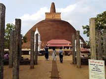 Vihara di Abhayagiri fotografia stock libera da diritti