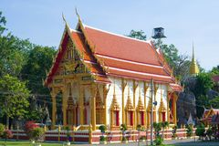 Vihara do templo budista Wat Bun Tawee Wat Tumklaeb imagens de stock
