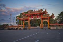 Vihara Satya Dharma é um templo chinês moderno no porto de Benoa, Bali É um templo 'de Satya Dharma 'ou 'de Shenism ', o asiático imagens de stock royalty free