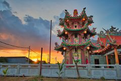 Vihara Satya Dharma es un templo chino moderno en el puerto de Benoa, Bali Es un templo de 'Satya Dharma 'o de 'Shenism ', el asi imagen de archivo libre de regalías