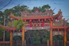"""Vihara Satya Dharma est un temple chinois moderne au port de Benoa, Bali C'est un temple de """"Satya Dharma """"ou de """"Shenism """", l'As image libre de droits"""